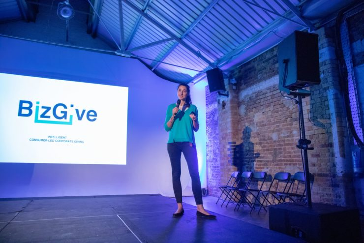 BizGive give their pitch at The Pitch 2018